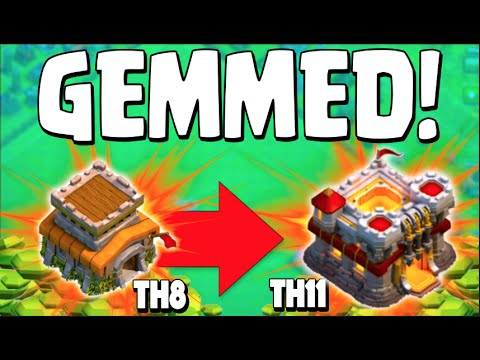 Clash of Clans - GEMMING TOWN HALL 8 TO TOWN HALL 11! UNLOCKING COC NEW UPDATE + Grand Warden Raid!