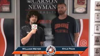 Carson-Newman beach volleyball: Kyle Peck Interview 4-20-17