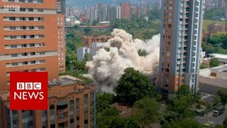 Pablo Escobar's former home demolished in Colombia. - BBC News