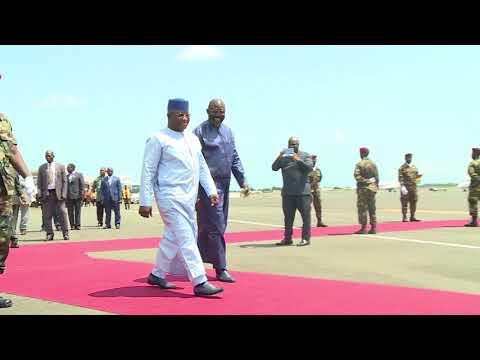 President Weah Receives Sierra Leonean Counterpart Julius Maada Bio