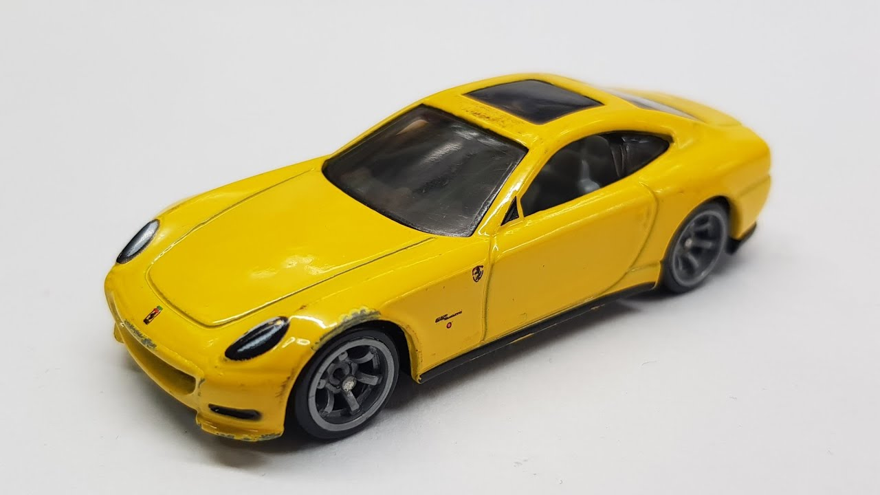 Yellow Hot Wheels Speed Machines Ferrari 612 Scaglietti
