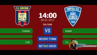 Crotone vs Empoli PREDICTION (by 007Soccerpicks.com)