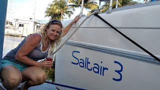 SE1 EP13. Catamaran Tour, Fountaine Pajot Venezia 42. Refit Complete. Sailing Trio Travels.
