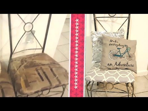 DIY chair covers with curtains| On a Budget