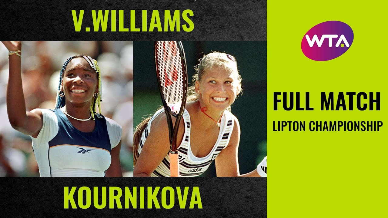 Venus Williams vs. Anna Kournikova | Full Match | 1998 Lipton Championship final