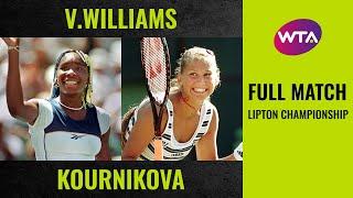 Venus Williams Vs. Anna Kournikova   Full Match   1998 Lipton Championship Final