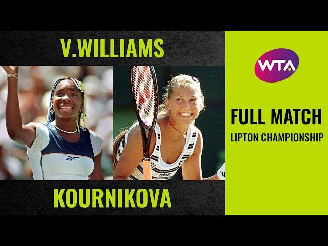 Venus Williams vs. Anna Kournikova | Full Match | 1998 Lipton Championship final