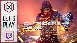 Pyromancer (Co-Op) | Outriders Demo | Twitch VOD