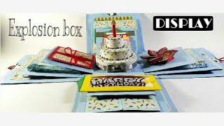 3 layered light blue Birthday Explosion Box || DISPLAY ||
