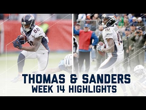 Demaryius Thomas & Emmanuel Sanders Combine for 226 Yards | NFL Week 14 Player Highlights