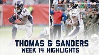 Demaryius Thomas & Emmanuel Sanders Combine for 226 Yards | NFL Week 14 Player Highlights