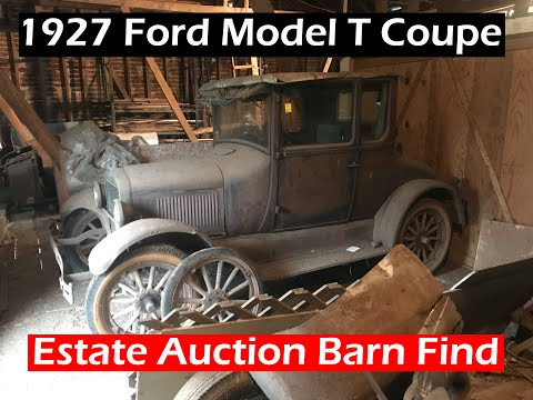 Farm Estate Auction Fun! Model T Coupe Barn Find and More!