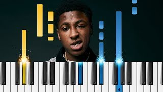 NBA YoungBoy - Outside Today - EASY Piano Tutorial - YoungBoy Never Broke Again