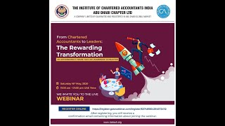 Webinar: From Chartered Accountants to Leaders: The Rewarding Transformation