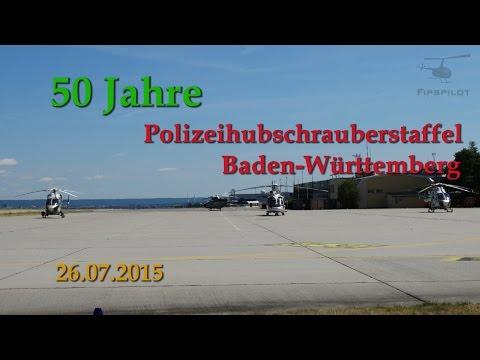 50 Jahre Polizeihubschrauberstaffel Stuttgart (+komplette Flugvorführung!) [HD]