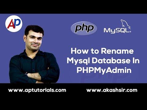 How To Rename Mysql Database In Phpmyadmin