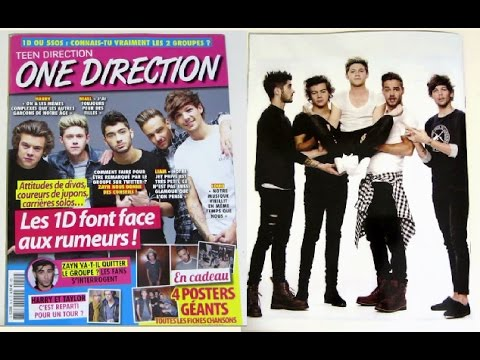 one direction magazine with posters preview niall horan liam payne