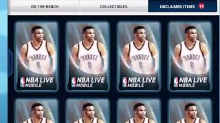 NBA live mobile pack opening!! Good pulls