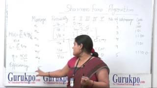 Shanon Fano Algorithm(B.Tech. Elec.) by Biyani International Institute of Engineering & Technology
