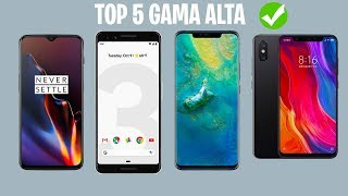 Top 5 MEJORES MOVILES ANDROID GAMA ALTA | Calidad Precio 2019