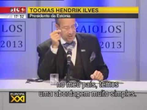 Presidente da Estónia envergonha Aníbal Cavaco Silva