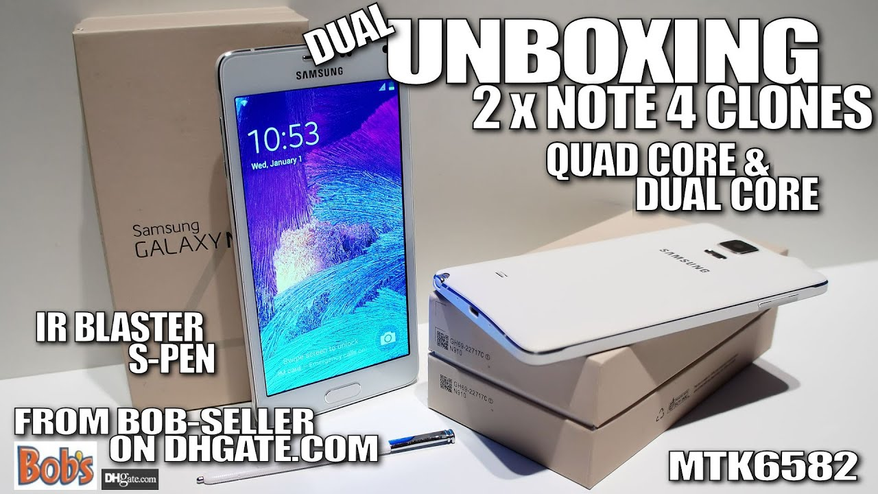 How to spot Note 4 fakes [UNBOXING] MTK6582 & MTK6572, Real IR Blaster &  S-Pen, Notification LED