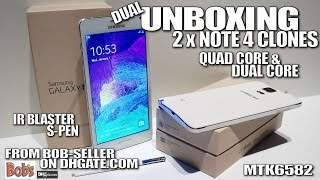 Note 4 Clones/Replicas [DUAL UNBOXING] MTK6582 & MTK6572, Real IR Blaster & S-Pen, Notification LED