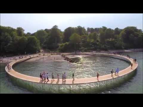Den Uendelige Bro. The Infinite Bridge. Sculpture By The Sea Aarhus, Denmark. ( Watch In 1080p )