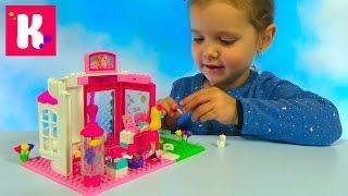 Барби с собачкой и кошечкой собираем из конструктора Mega Blocks Barbie with cat and dog's set