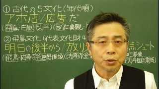 語呂合わせ日本史〈ゴロテマ〉5(古代4(基本4)五大文化)改