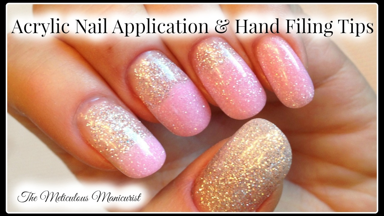 💅 DIY Acrylic Nails for Beginners Tutorial and Hand Filing Tips ...