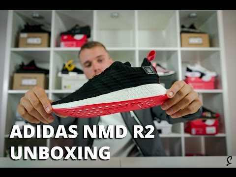 adidas NMD R2 Black Red EARLY Unboxing & Review   Sizing