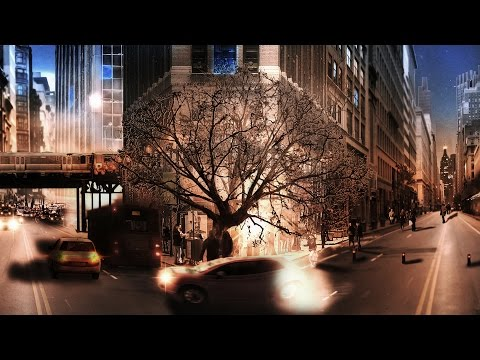Matte painting: city life speed art photoshop