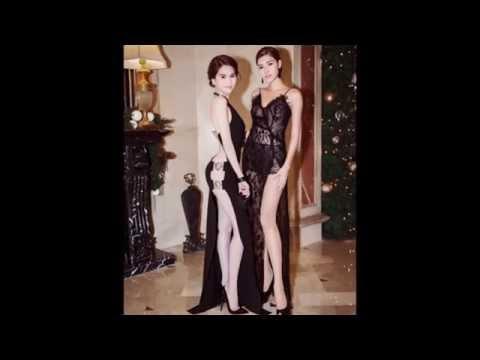 Ngọc Trinh mặc đồ khoe vòng ba táo bạo của thương hiệu Versus.