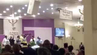 Bishop Lambert Gates Sr preaching at Beulah Heights 1st Pentecostal Church