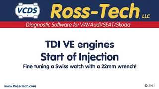 Réglage d'avance d'injection vw tdi pompe mécanique