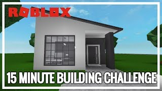 ROBLOX | Welcome To Bloxburg | 15 Minute Building Challenge