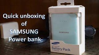 Samsung Power Bank EB-PN915BWEGIN 11300mAh Quick Unboxing