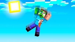 FALLING OUT OF A MINECRAFT WORLD!