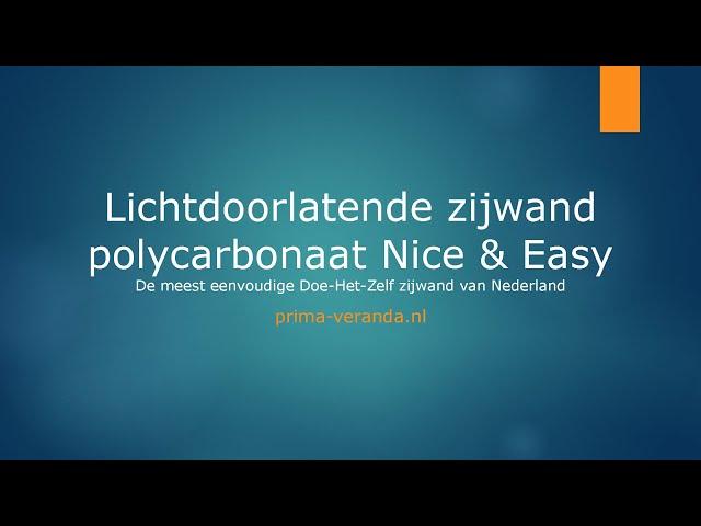 Opmeetinstructie Lichtdoorlatende zijwand polycarbonaat Nice & Easy