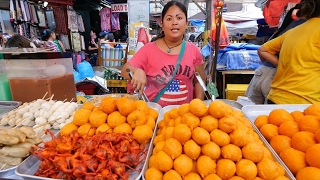 Filipino Street Food Tour - BALUT and KWEK KWEK at Quiapo Market, Manila, Philippines!