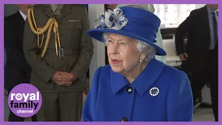 The Queen and Princess Anne Visit Satellite Centre in Glasgow