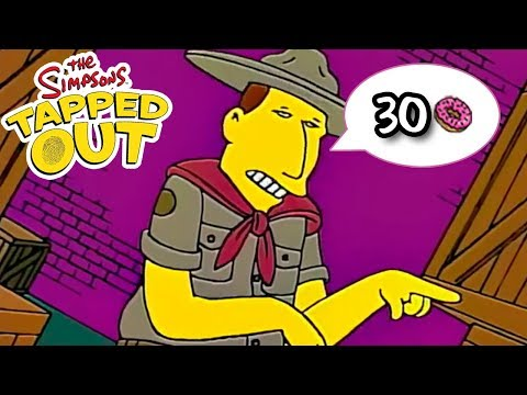 The Simpsons: Tapped Out - The Scout Master - Premium Character Walkthroughs