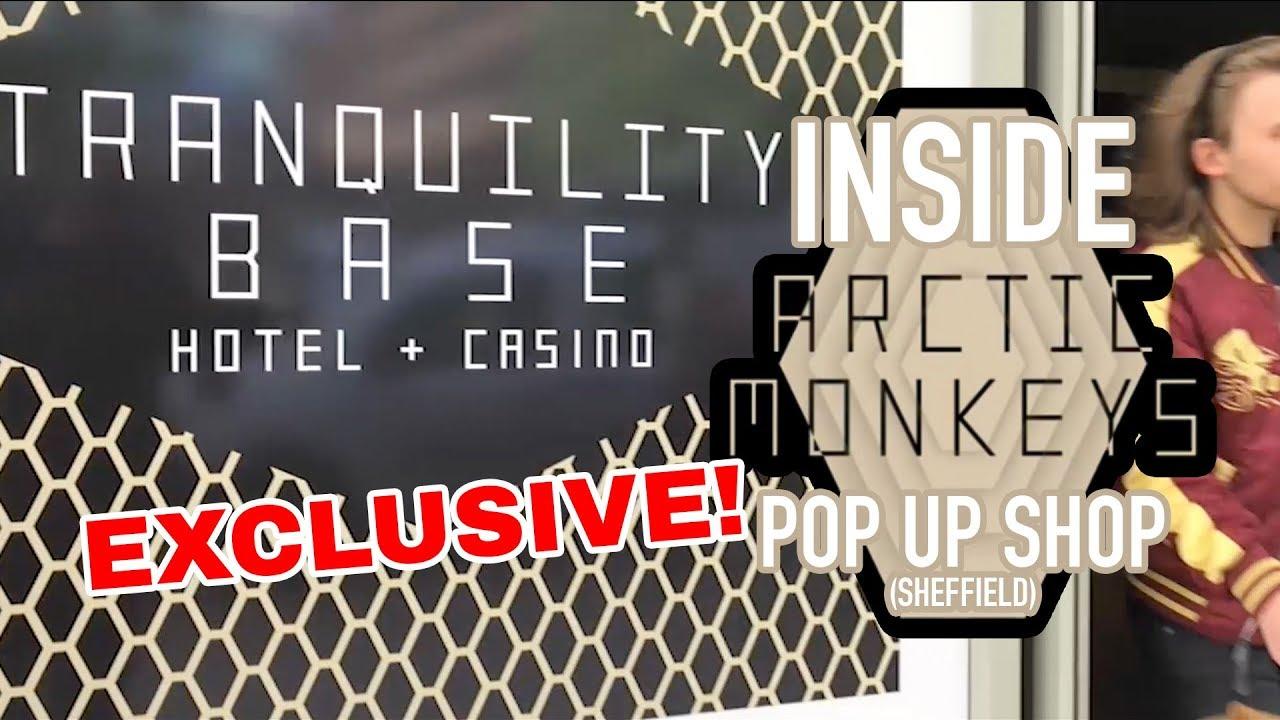 e9a4563dc73c2 Inside Arctic Monkeys Pop Up Shop 🛍️: Tranquility Base Hotel+Casino / The  DeeJayOne Sheffield Guide
