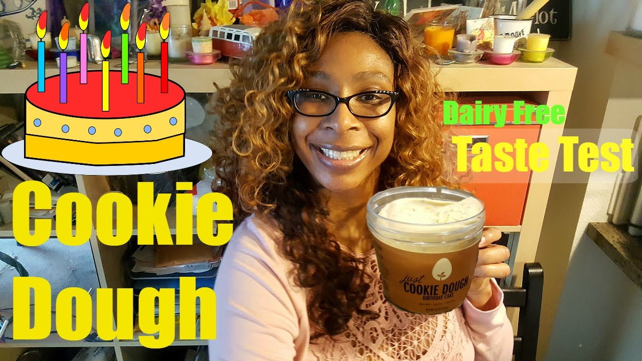Just Cookie Dough Birthday Cake Taste Test Dairy Egg Free 2017 Edible