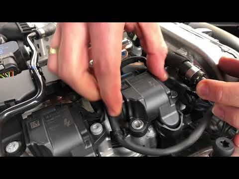 How to replace the spark plugs auto sparking Plug Replacement Mercedes Benz C180 sedan DIY