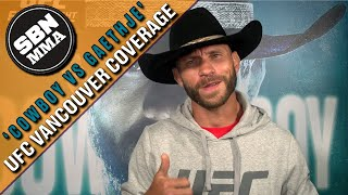 Donald Cerrone: Dave Bautista Made Me Feel 'Inferior as a Man' | UFC Vancouver | Open Workouts