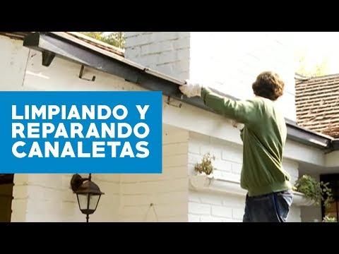 C mo limpiar y reparar canaletas youtube for Caidas de agua para techos