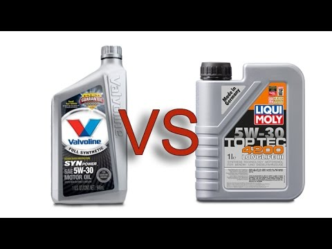 Valvoline 5W30 Synpower vs liqui moly 5W30 toptec 4200 longlife III engine oil cold test -24°C