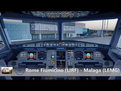 [Prepar3D v3.4/IVAO] AZ90 I Roma (LIRF) - Malaga (LEMG) I Airbus A320 I Shared Cockpit
